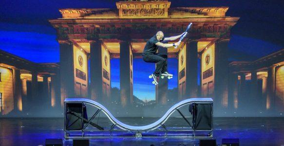 Rollschuh-Show